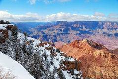 Grand Canyon panorama view in winter with snow Stock Photography
