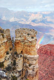 Grand Canyon panorama view in winter with snow Royalty Free Stock Photography
