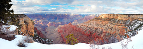 Grand Canyon panorama view in winter with snow Stock Image