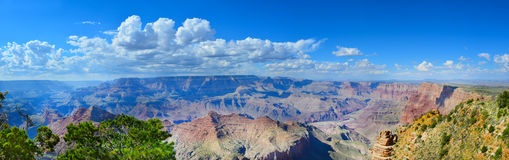 Grand Canyon Panoramic on a Beautiful Day Stock Photo