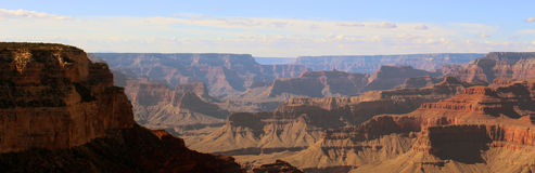 Grand Canyon. Panoramic of the Grand Canyon from the top of the South Rim stock photo