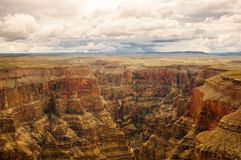 Grand Canyon panoramic view. Into the canyon 2013 Stock Photo