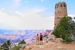 Grand Canyon people Stock Images