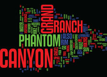 Grand Canyon Phantom Ranch Word Cloud Concept Stock Images