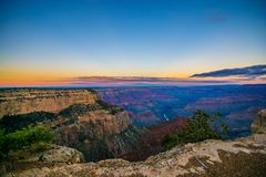 Grand Canyon photo during early sunrise Stock Photo