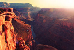Grand Canyon. Picturesque landscapes of the Grand Canyon Stock Images