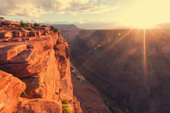 Grand Canyon. Picturesque landscapes of the Grand Canyon Stock Photos