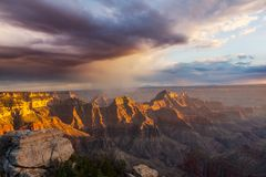 Grand Canyon. Picturesque landscapes of the Grand Canyon, Arizona, USA. Beautiful natural background stock images