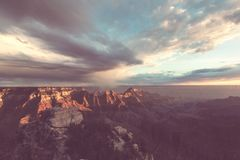 Grand Canyon. Picturesque landscapes of the Grand Canyon, Arizona, USA. Beautiful natural background stock photos