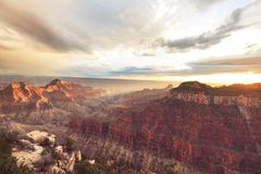 Grand Canyon. Picturesque landscapes of the Grand Canyon, Arizona, USA. Beautiful natural background stock photo
