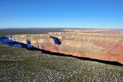 Grand Canyon plateau aerial Royalty Free Stock Image