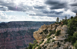 The Grand Canyon platform view Royalty Free Stock Image