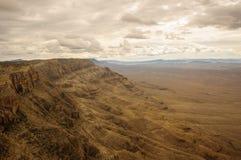 Grand Canyon pris de l'hélicoptère Image stock