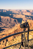 Grand Canyon - Professional photocamera set up for Sunset Royalty Free Stock Photography