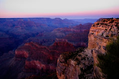 Grand Canyon purple sky Royalty Free Stock Photo