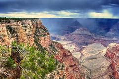 Grand Canyon Rain Stock Images