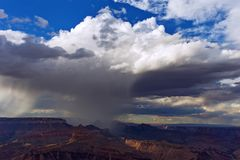 Grand Canyon -regendouche Stock Fotografie