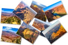 Grand Canyon representa el collage Imágenes de archivo libres de regalías