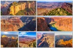 Grand Canyon representa el collage Imagen de archivo libre de regalías