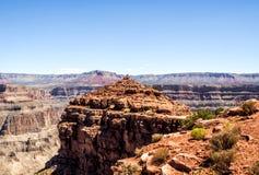 Grand Canyon Rim Eagle Point - o Arizona ocidentais, AZ Fotos de Stock Royalty Free