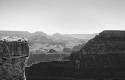 Grand Canyon Rim In Monochrome del sur Imagenes de archivo