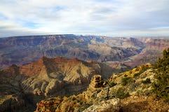 Grand Canyon Rim Overview sul imagem de stock royalty free