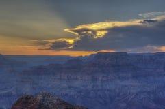 Grand Canyon Rim Sunset del sud Fotografie Stock Libere da Diritti
