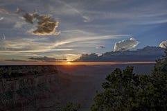 Grand Canyon Rim Sunset del sud Immagini Stock