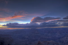 Grand Canyon Rim Sunset del sud Fotografie Stock