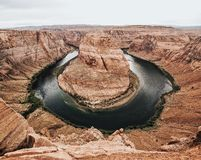 Grand Canyon and River Aerial View Photo Stock Images