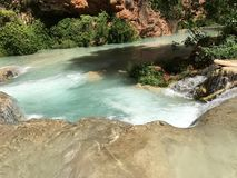 Grand Canyon River. Clear blue water streaming through the valley royalty free stock photos