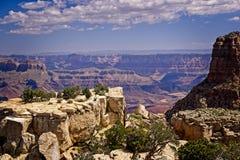 Grand Canyon Rocky Overlook royalty-vrije stock foto