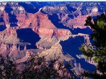 Grand Canyon södra kant på en solig dag arkivbild