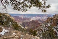 Grand Canyon Süd-Rim Winter Landscape Stockbilder