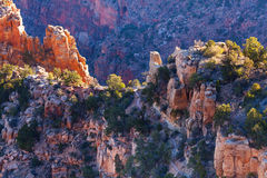 Grand Canyon's some of inner ridges Stock Photography