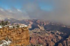 Grand Canyon scenico nell'inverno Fotografie Stock