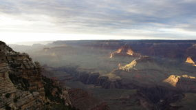 Grand Canyon in schaduw Royalty-vrije Stock Afbeelding