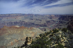 Grand Canyon seen from Desert View Royalty Free Stock Image