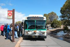 Grand Canyon shuttle bus Royalty Free Stock Images