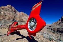 Grand Canyon sikt av helikoptrar Royaltyfri Bild