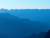 Grand Canyon silhouette - blue Royalty Free Stock Photos