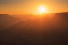 Grand Canyon Silhouettes Royalty Free Stock Photography