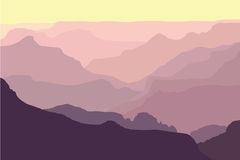 Grand Canyon SIlhouettes royalty free illustration