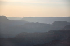 Grand Canyon skyline in evening sunlight Royalty Free Stock Photo