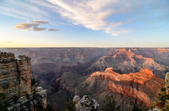 Grand Canyon skyline in evening sunlight Royalty Free Stock Photos