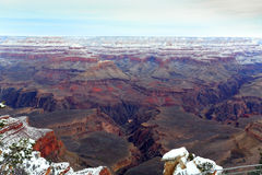 Grand Canyon in Snow Royalty Free Stock Images