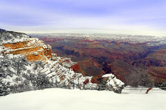 Grand Canyon in Snow Royalty Free Stock Photos