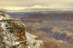 Grand canyon snow Royalty Free Stock Image