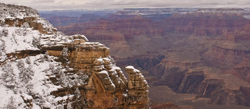 Grand canyon snow Stock Photo
