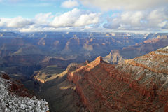 Grand Canyon in snow Royalty Free Stock Photography